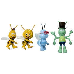 Assortiment de 4 figurines articulées Maya l'abeille