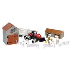 Coffret ferme et tracteur
