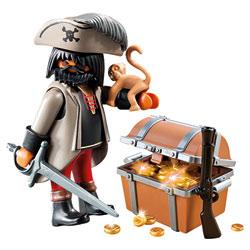 4767-Pirate avec coffre au trésor