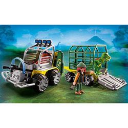 5236-Véhicule avec cage et bébé T-Rex