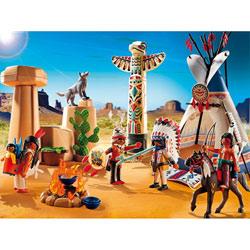 5247-Camp des Indiens avec tipi