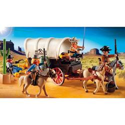 5248-Chariot avec cow-boys et bandits