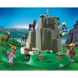 5423 - Alpinistes et animaux de la montagne