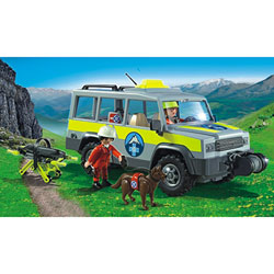 5427-Véhicule avec secouristes de montagne