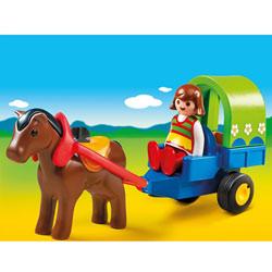 6779-Chariot avec poney