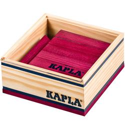 Kapla-40 planchettes couleur prune