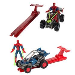 Spiderman Lanceur + Véhicule Assortiment