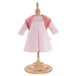 Robe rose et gilet poupon 36 cm
