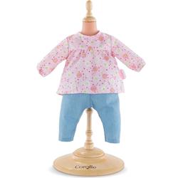 Ensemble blouse grenadine avec jean pour poupon 42 cm