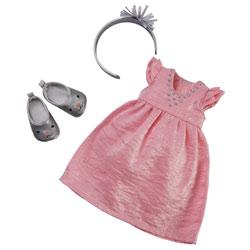 Robe de fêtes & acessoires pour Poupée Les Chéries