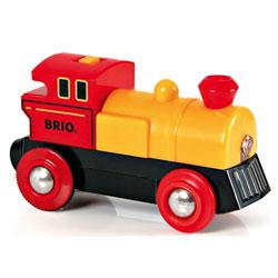 Brio 33594 - Locomotive à pile bidirectionnelle jaune