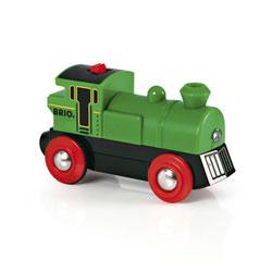Brio 33595-Locomotive à pile verte