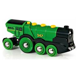 Brio 33593-Locomotive puissante verte à piles