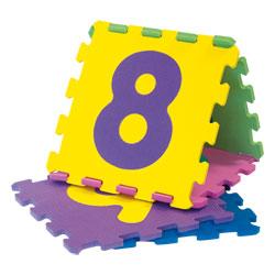 Lot dalles lettres et chiffres