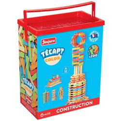 Jeu de construction en bois Tecap Color 200 pièces