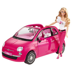 Barbie Fiat 500 rose