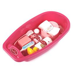 Baignoire et accessoires pour poupée princess Coralie