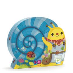 Puzzle 24 pièces ceuillette de l'escargot