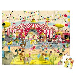 Valisette puzzle cirque 54 pièces