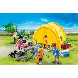5435-Famille et tente de camping