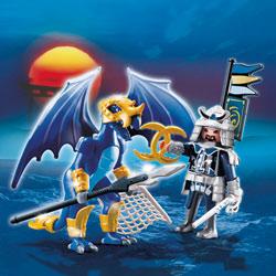 5464-Dragon des Glaces avec combattant