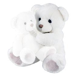 Ours Blanc Douceur Modèle Moyen 30 cm