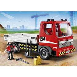 5283-Camion Benne avec ouvrier Playmobil