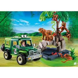 5416-Véhicule d'exploration avec animaux de la jungle