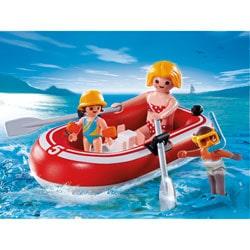 5439-Vacanciers avec bateau pneumatique Playmobil