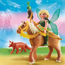 5448-Fée Diana avec cheval Luna