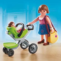 5491-Maman et bébé avec poussette