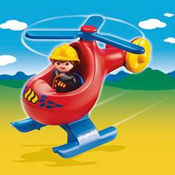 6789-Pompier avec hélicoptère Playmobil