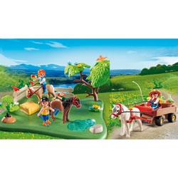 5457-Coffret anniversaire Cavaliers avec poneys et carriole