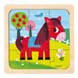 Puzzle cheval Tornado 9 pièces