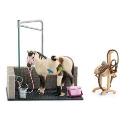 Box de lavage pour chevaux