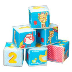 Lot de 6 cubes de Bain Sophie la Girafe