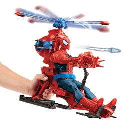 Spiderman Figurine 30 cm et son Hélicoptère