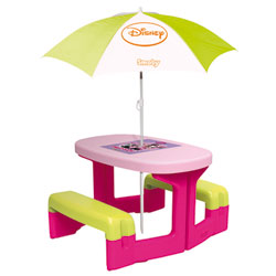 Table de pic-nic Minnie + parasol Minnie