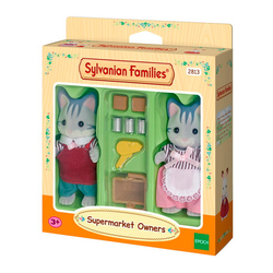 Sylvanian-Chats gris commerçants