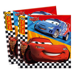 20 Serviettes Cars Racing Sports Network