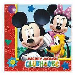 20 Serviettes Mickey 33x33 cm