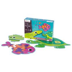 3 Puzzles XL Animaux à écailles