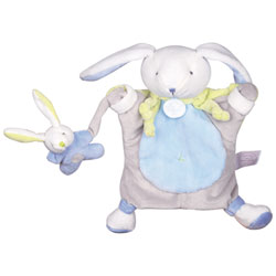 Marionnette Lapin Bleu 24 cm