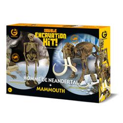 Kit d'excavation Homme de Neandertal + Mammouth
