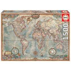 Puzzle 1500 pièces, carte politique du monde