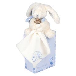 Pantin Lapin Bonbon avec Doudou Bleu