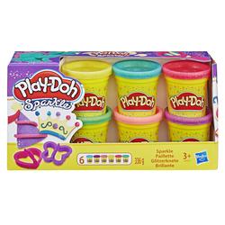 Pâte à modeler à paillettes - Pack de 6 pots Play Doh