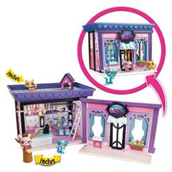 Littlest Petshop Style Set Boutique avec 3 Petshop