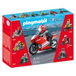5522-Moto de course rouge