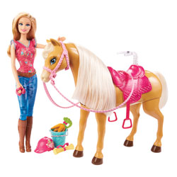 Barbie et Cheval Tawny